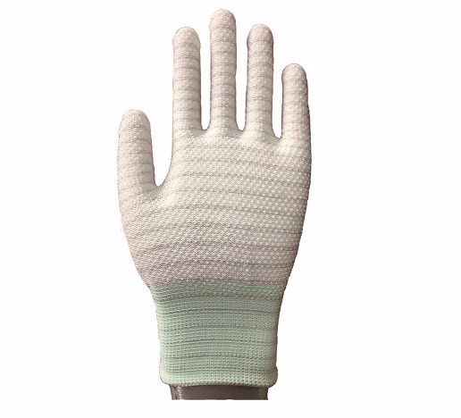 ESD PVC DOTTED Glove-less carbon SP-GLO-02