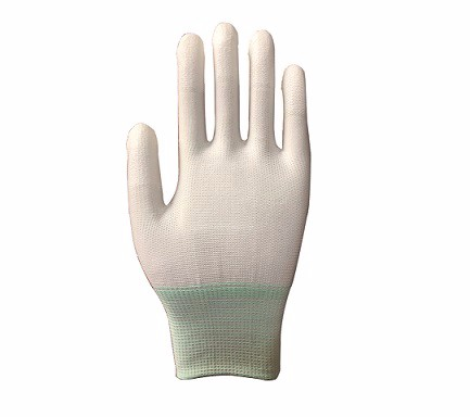 ESD White PU Top Fit glove SP-GLO-07