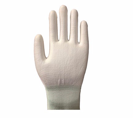 ESD White PU Palm Fit Glove SP-GLO-08