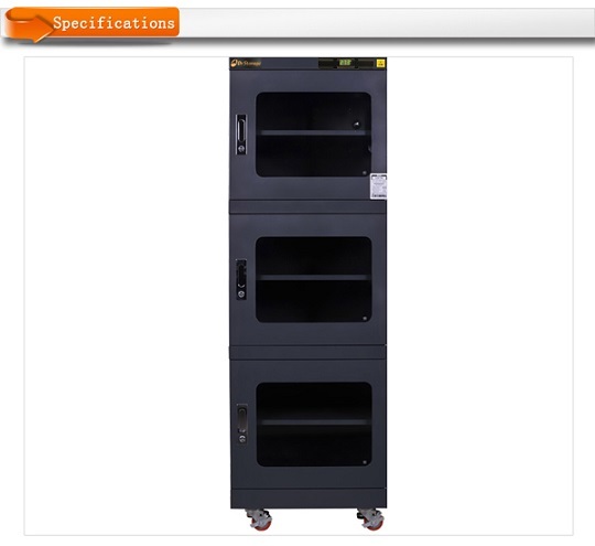 Antistatic black drying cabinet C2E-790 , Dryzone or Dr.storage brand