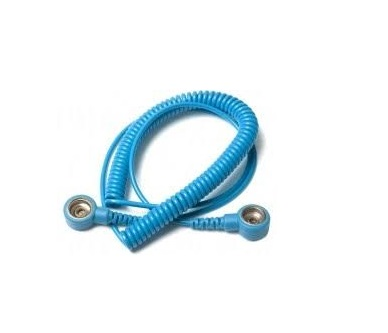 ESD Wrist Strap Coil -10mm snap to 10mm snap  SP-WRI-01-1